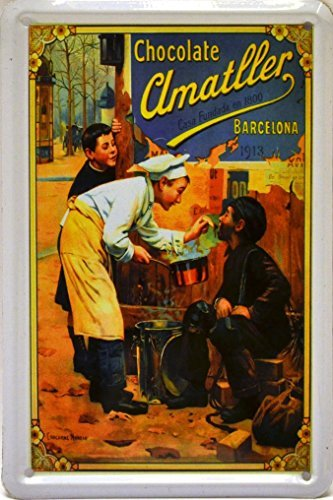 Amazon.com: Magnet tin poster sign, with retro vintage design from Catalunya/Spain. Tin sign. 4, 33