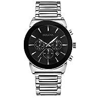 Bulova 96B203 Men's Dress Silver Chronograph Watch