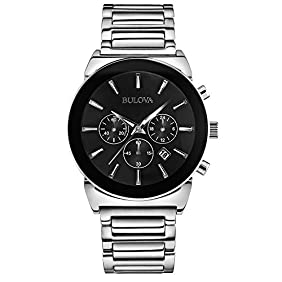 Bulova 96B203 Men's Dress Silver Chronograph Watch