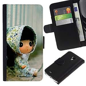 Ihec-Tech / Flip PU Cuero Cover Case para Samsung Galaxy S4 Mini i9190 MINI VERSION! - Cute Toy Girl