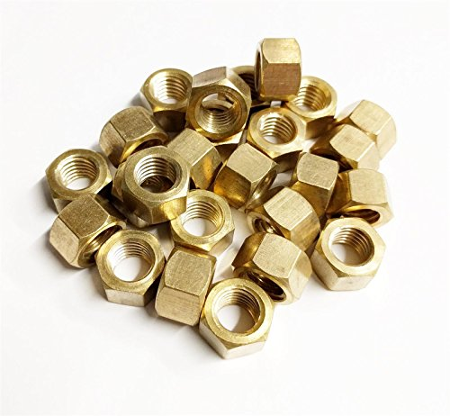 25x Brass Metric Exhaust Manifold Nut 8mm x 1.25mm High Temperature (Brass Exhaust)