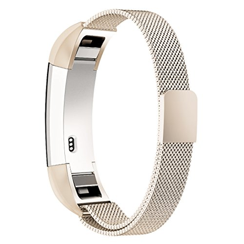 For Fitbit Alta HR and Alta Bands, Simpeak Replacement Milanese Loop Stainless Steel Wristband with Metal Connectors for Fitbit Alta (HR) Fitness (5.5-8.5