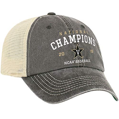 Elite Fan Shop Vanderbilt Commodores Baseball College World Series Champs Hat CWS 2019 Snap Back - Adjustable - Black