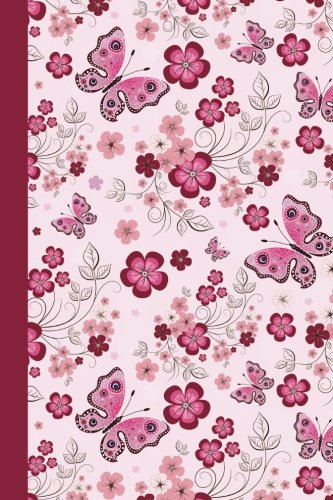 Download Sketch Journal: Floral with Butterflies (Pink) 6x9 - Pages are LINED ON THE BOTTOM THIRD with blank space on top (Birds and Butterflies Sketch Journal Series) pdf epub
