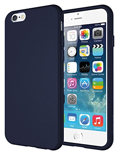 iPhone 6s Case, Diztronic Full Matte Soft Touch Slim-Fit Flexible TPU Case for Apple iPhone 6 & iPhone 6s (4.7) – Dark Navy Blue