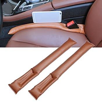 Car Seat Gap Filler, EFORCAR 2PCS Universal PU Leather Auto Car Seat Hand Brake Gap Filler Holster Spacer Filler Padding Soft Seat Crack Pad Suitable for Most Vehicles