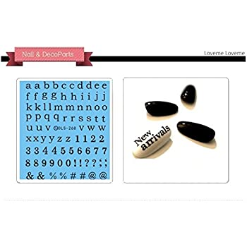 Amazon Nail Art Water Transfer Stickers Capital Letter Dls268