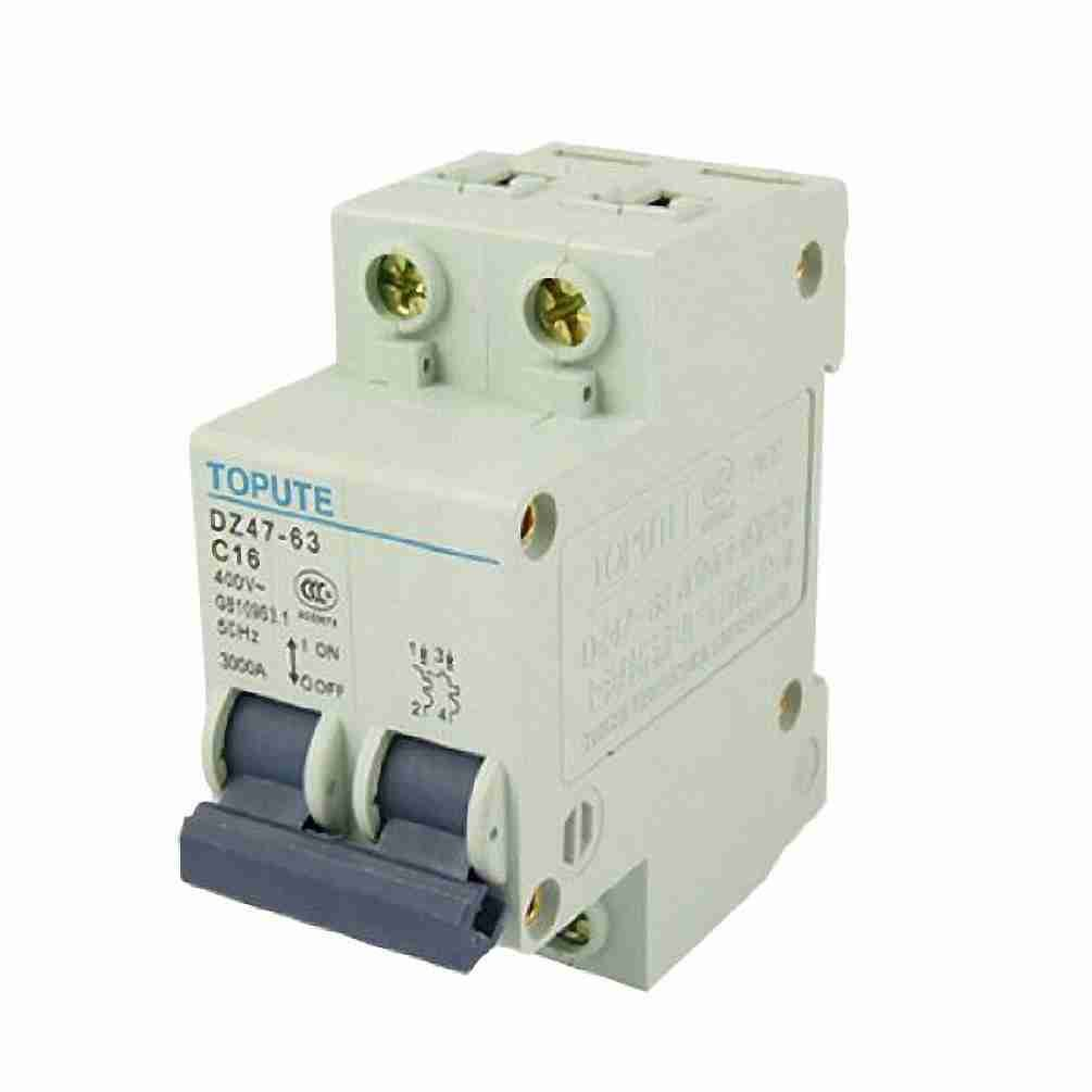 Move&Moving(TM) DZ47-63 C16 16A AC 400V Two Pole Mini Circuit Breaker