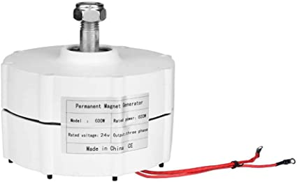 Alternador trifásico Generador de imanes permanentes Generador de turbina de energía eólica 400W 500W 600W 24V o 48V 50HZ(600W48V)