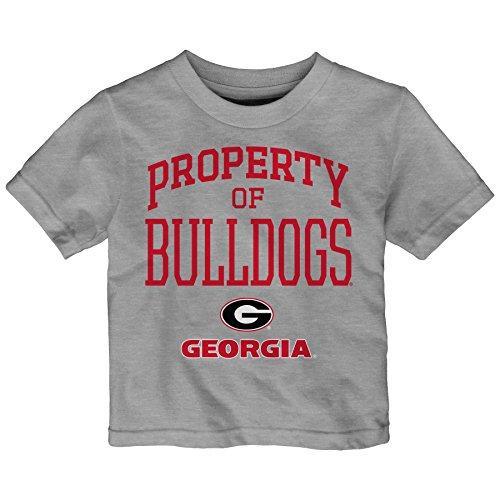 NCAA Georgia Bulldogs Infant Team Property Short Sleeve Tee, 18 Months, Heather Grey