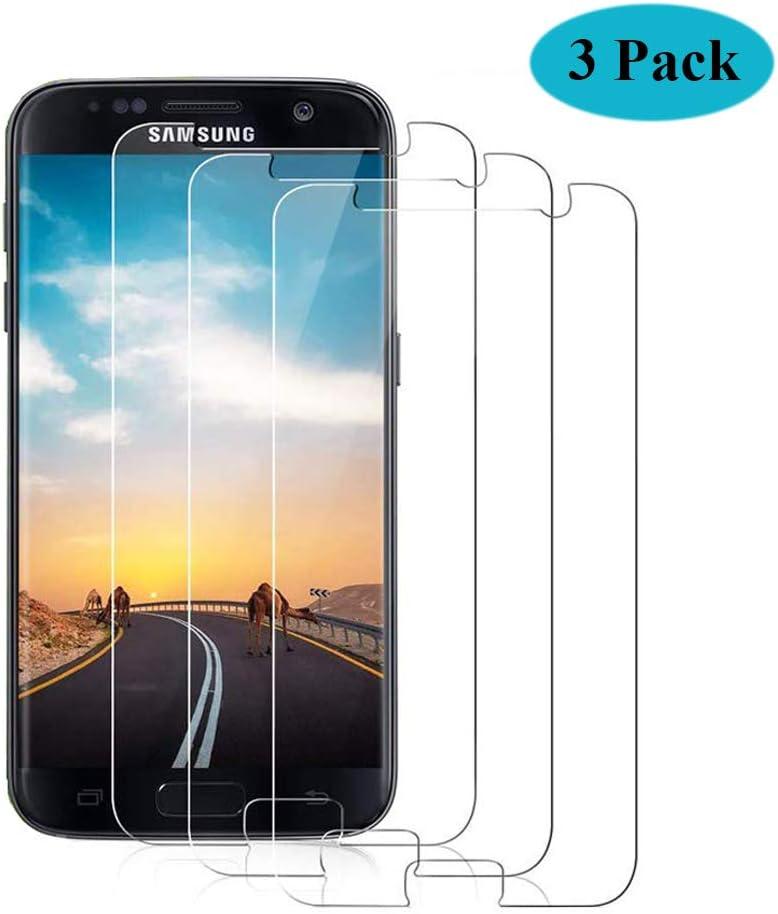 Seomusen Protector de Pantalla Compatible con Samsung Galaxy S7 [3 Piezas], 9H Dureza, Anti-Burbujas, Anti-despegamientos, Anti-arañazos, Ultra-Transparente, Cristal Templado para Samsung Galaxy S7: Amazon.es: Electrónica