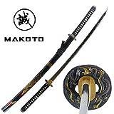 "Best Katana Swords - Makoto Hand Forged Razor Sharp 41"" Black Samurai Review"