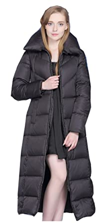 cheaper b0ecf 96907 UAISI Women Thick Goose Down Coat Long Winter Parka Jacket