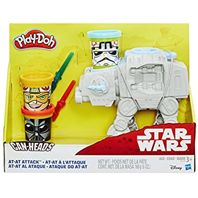 Play-Doh Star Wars AT-AT Attack with Can-Heads: Toys & Games