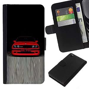 M3 E30 B M W - la tarjeta de Crédito Slots PU Funda de cuero Monedero caso cubierta de piel Para HTC DESIRE 816