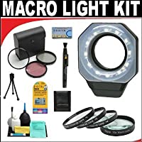 Digital Ring Light For Macro Photography + +1 +2 +4 +10 Close-Up Macro Filter Set with Pouch + High Resolution 3-piece Filter Set (UV, Fluorescent, Polarizer) + 6-Piece Deluxe Cleaning Kit + Lenspen Cleaning Tool + Deluxe DB ROTH Accessory KitFor The Canon EOS 7D Digital SLR Camera Which Has Any Of These (18-55mm, 75-300mm, 50mm 1.4 , 55-200) Canon Lenses