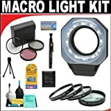 Digital Ring Light For Macro Photography + +1 +2 +4 +10 Close-Up Macro Filter Set with Pouch + High Resolution 3-piece Filter Set (UV, Fluorescent, Polarizer) + 6-Piece Deluxe Cleaning Kit + Lenspen Cleaning Tool + Deluxe DB ROTH Accessory KitFor The Cano