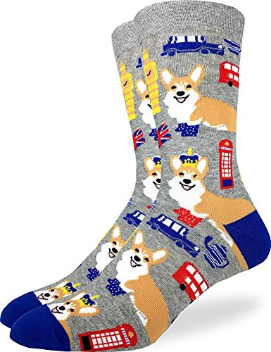(Men Corgi Men S Corgi S In London Socks Grey Adult Shoe Size 7 12 Prime Coogi)