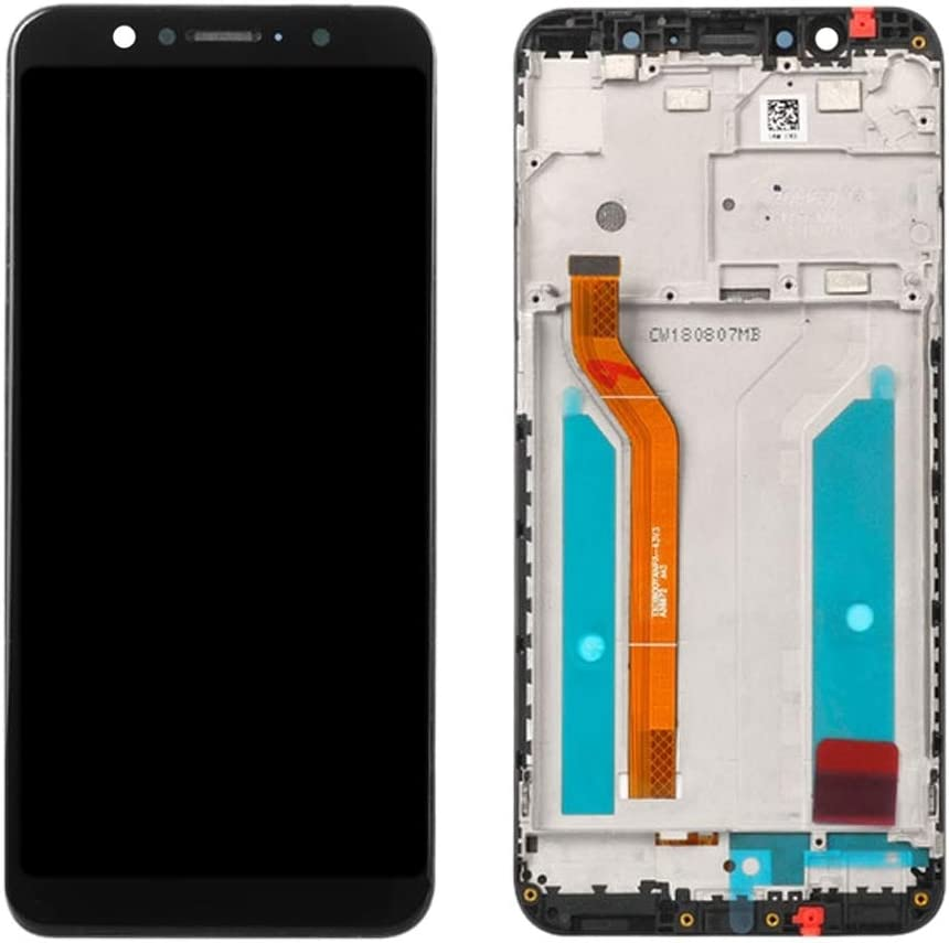 Color : Black LCD Screen Mobile Phone and Digitizer Full Assembly with Frame for Asus ZenFone Max Pro Black ZB601KL ZB602KL M1
