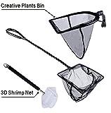 Aqualantis Aquascaping Artifact 3 Nets In 1 Set Includes Fish Net, 3D Shrimp Net And Creative Aqua Plants Net