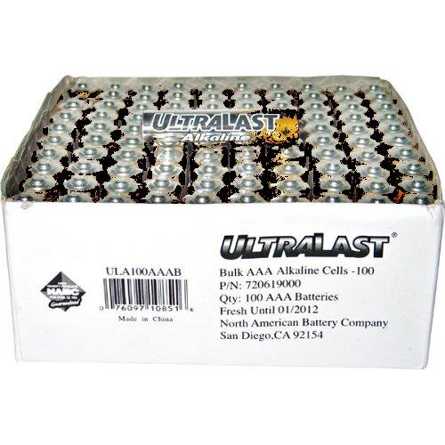 1.5V DC General Purpose Battery-100 count NABC UltraLast ULA100AAB AA Size General Purpose Battery Alkaline