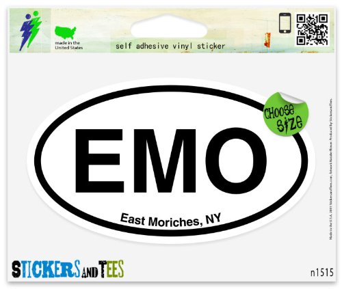 EMO East Moriches NY Oval Car Sticker Indoor Outdoor 5