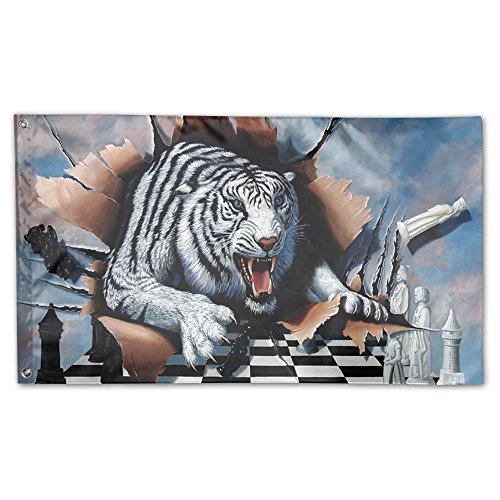 Garden Flag 3D Tiger Drawing Outdoor Yard Home Flag Wall Law