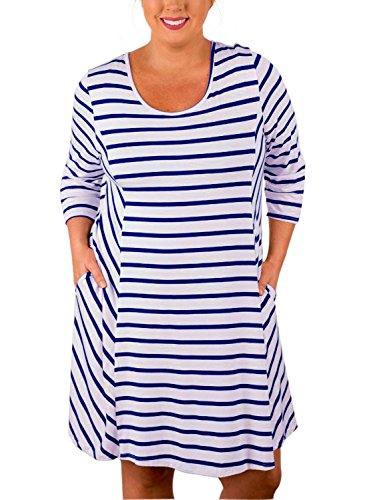 blue and black striped dress - 6