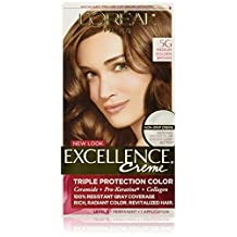 L'Oreal Excellence Non Drip Creme Triple Protection Color # 5g Medium Golden Brown Warmer