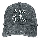 Keerqingqu Men Women Adjustable Yarn-Dyed Denim Baseball Caps No Hair Don't Care Snapback Cap