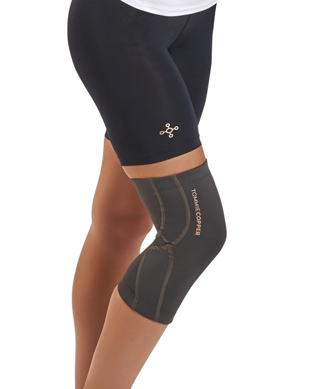 Tommie Copper Women's Performance Knee Sleeves 2.0, Small, Slate Grey