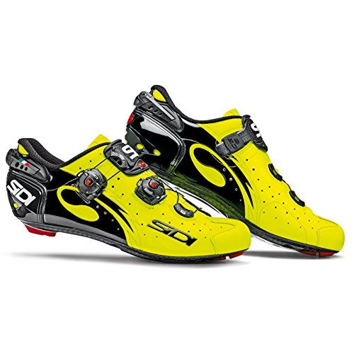 顔料蛇行フォーマルSIDI(シディ) Wire Carbon Road Cycling Shoes - Yellow Fluo/Black [並行輸入品]