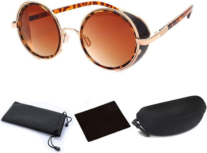 Vintage Luxury SteamPunk Style 2019 Sunglasses Quality Handmade Side Shield Bran