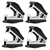 4 Pack Staple Removers Staple Remover Tool with Extra Wide Steel Jaws for School, Office and Home,Black