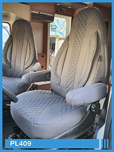 Maat stoelhoezen compatibel met FIAT Ducato type 250 bestuurder & passagier vanaf 2006 Kleurnummer: PL409