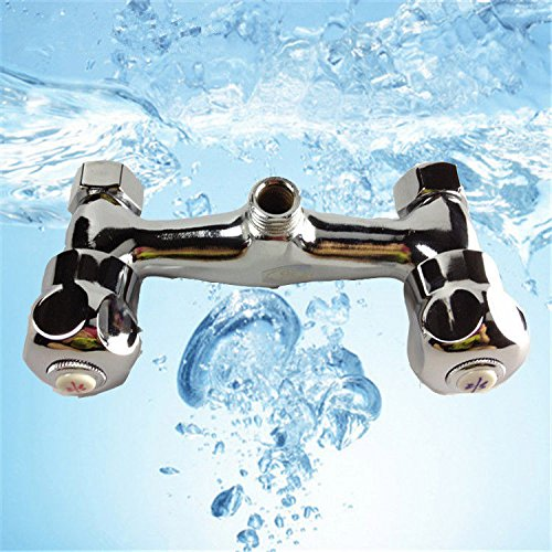 NewBorn Faucet Küche Oder Badezimmer Waschbecken Mischbatterie Einfache Moderne Edelstahl Waschbecken mit Warmen und Kalten Wasser Insgesamt Wasser B 000 Für Das Rohr, Tippen Sie auf