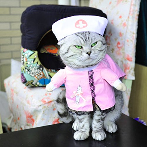 Yumian Pet Nurse Outfit Dog Cat Costume Suit Puppy Clothes For Halloween (XL)]()