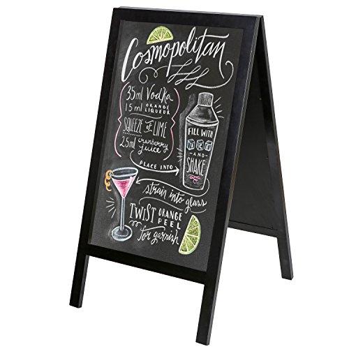 Modern Frame Chalkboard Sidewalk Sandwich