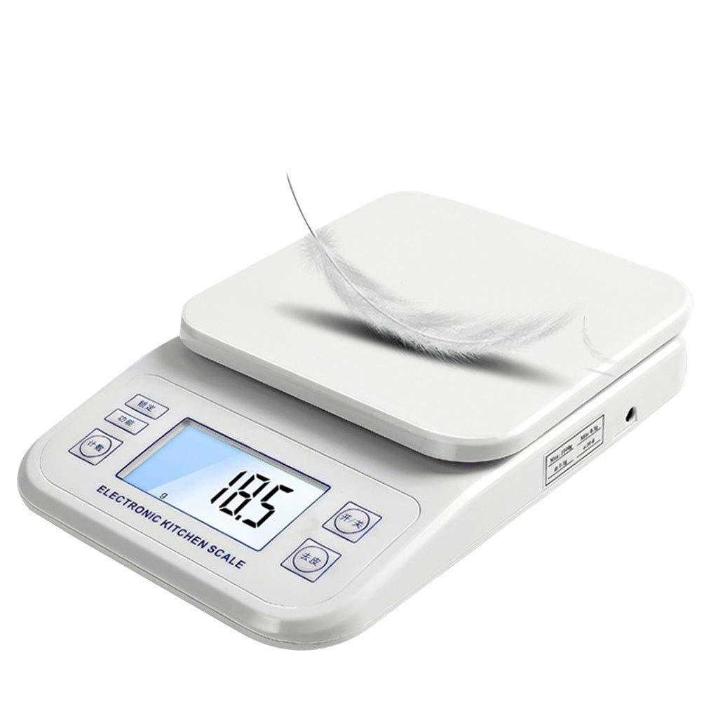 WWL - Báscula de cocina, báscula de pesaje, precisión de cocina, báscula digital multifunción de alta precisión para joyas, bolsillo con pantalla LCD retroiluminada, báscula electrónica (1 kg/0,1 g)