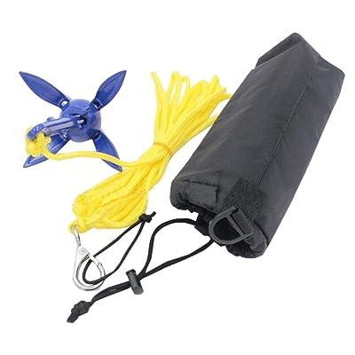 Portable Folding Anchor Buoy Kit Canoe Kayak Raft Boat Sailboat Fishing Jet Ski