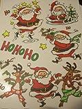 Christmas Window Clings ~ Dancing Santas & Reindeer