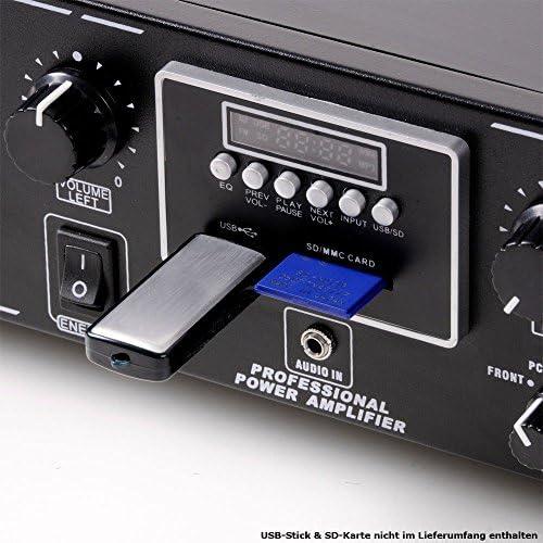 Equipo PA 3000 W USB MP3 SD amplificador Micrófono inalámbrico ...
