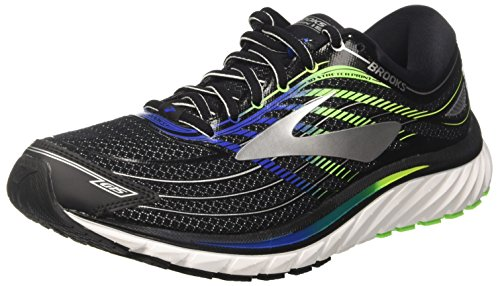 Brooks Men's Glycerin 15 Black/Electric Blue/Green Gecko 11.5 D US