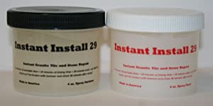 Epox-Sci's Instant Install 29~8 oz. Knife Grade epoxy. Granite, Stone, Tile, Crack and Chip Repair/Joint or Installation Adhesive. Tintable with Our EZ-Tint 4 Color Pack.