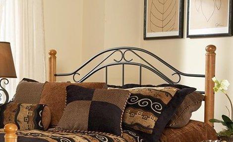 Hillsdale Furniture Winsloh Headboard - King - Rails not included Black/Medium Oak