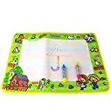 Spritumn Water Drawing Doodle Mat Children Painting Writing Board with 2 Magic Pens Toy Gift for Kids Children 36 x 50 cm (A)