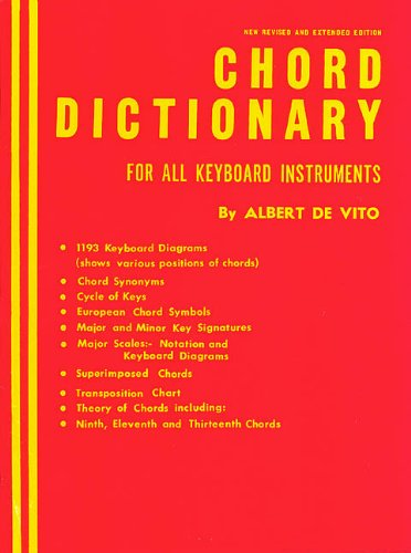 - Chord Dictionary for Keyboard Instruments: Reference Book