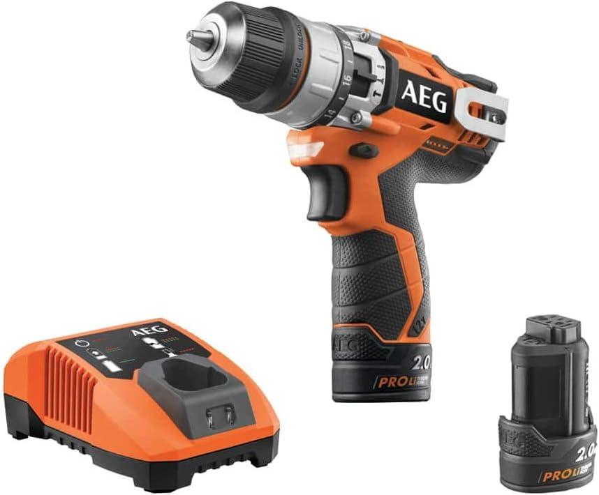 Perceuse /à percussion AEG 12V 1 chargeur 2 batteries 2.0Ah BSB12C2LELI-202X