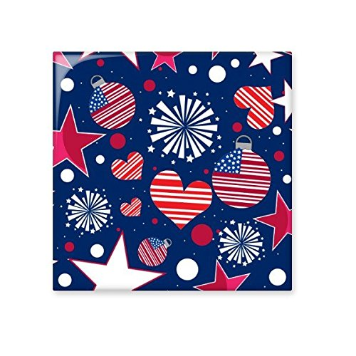 durable service USA America Flag Love Heart Star Festival Illustration Pattern Ceramic Bisque Tiles for Decorating Bathroom Decor Kitchen Ceramic Tiles Wall Tiles