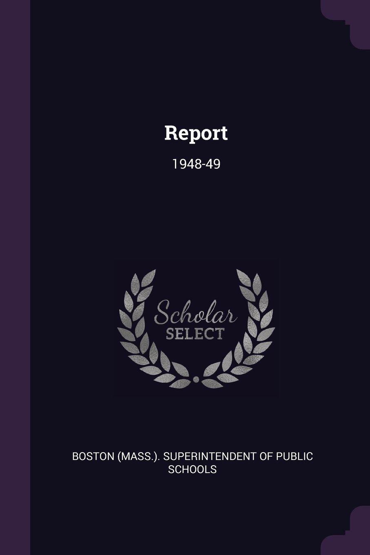 Report: 1948-49 ebook
